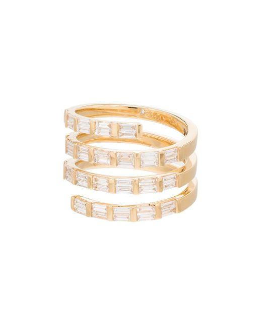 SHAY Spiral ダイヤモンド リング 18kイエローゴールド Metallic