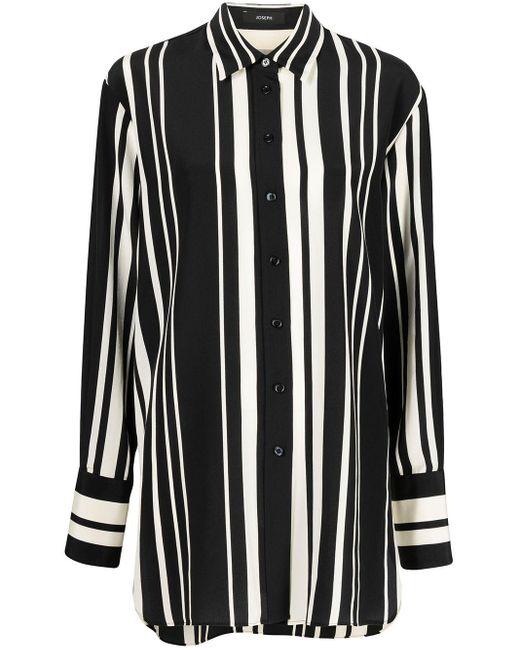 Chemise longue à rayures Joseph en coloris Black