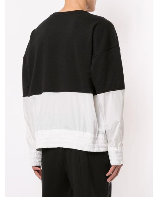 メンズ Neil Barrett カラーブロック スウェットシャツ Black