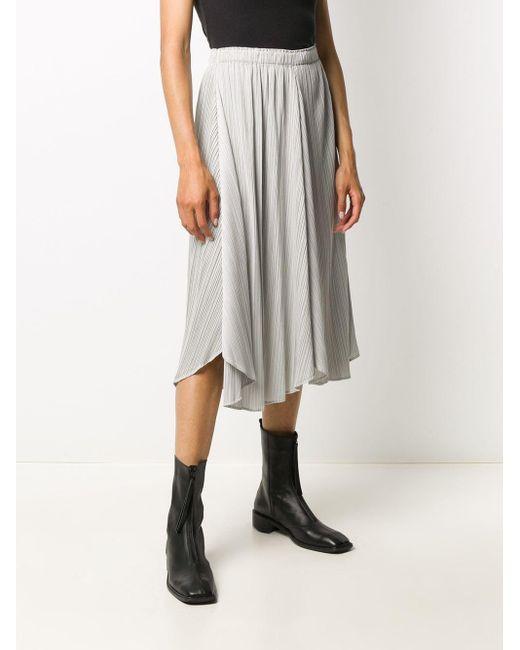 Плиссированная Юбка С Эластичным Поясом Pleats Please Issey Miyake, цвет: Gray