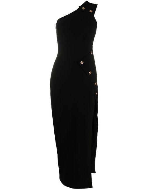 Versace メデューサ ワンショルダードレス Black