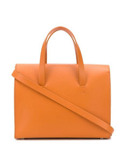 Aesther Ekme Orange New Mini Barrel Tote Bag