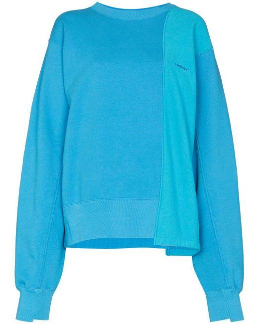 Ambush バイカラー スウェットシャツ Blue