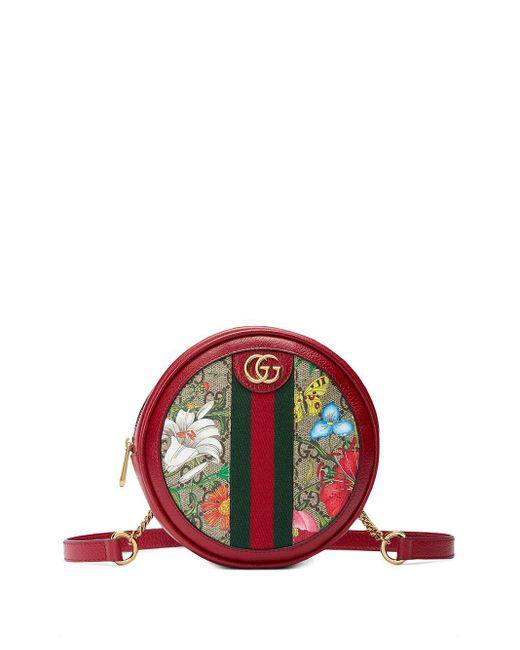 Gucci オフィディア フローラ ショルダーバッグ Red