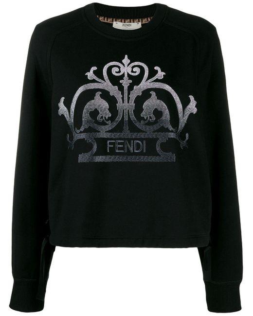Fendi ロゴ スウェットシャツ Black