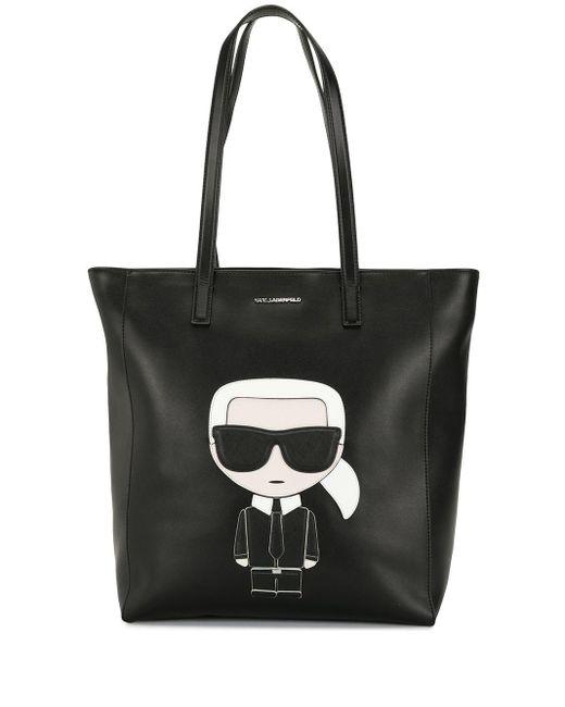 Karl Lagerfeld K/ikonik ハンドバッグ Black