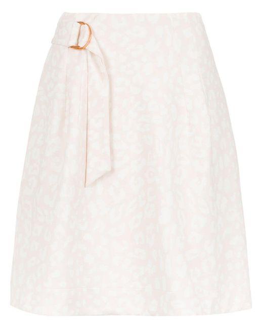 Tufi Duek Printed Flared Skirt White