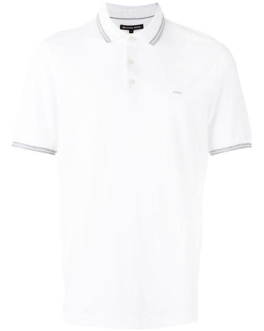 メンズ Michael Kors ロゴ刺繍 ポロシャツ White