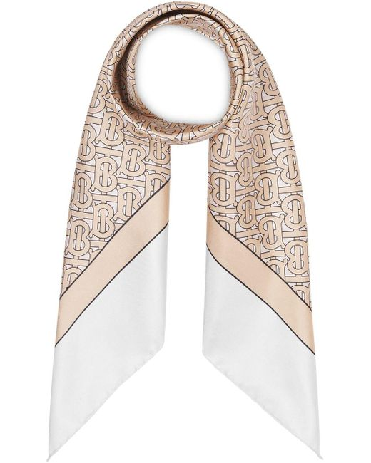 Burberry モノグラム スカーフ Natural