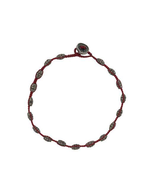 メンズ Tateossian ダイヤモンド ブレスレット Red