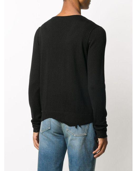 メンズ Saint Laurent Vネック プルオーバー Black