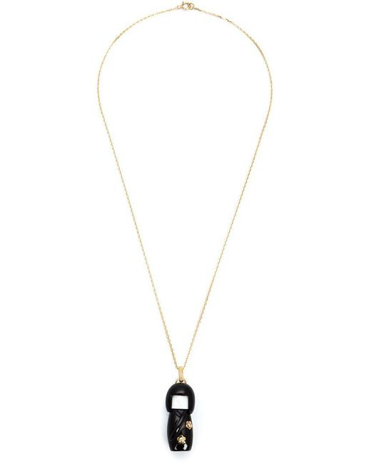 Kristin Hanson - Black 'kokeshi Doll'charm Necklace - Lyst
