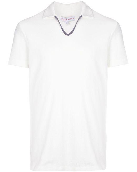 メンズ Orlebar Brown ショートスリーブ ポロシャツ White