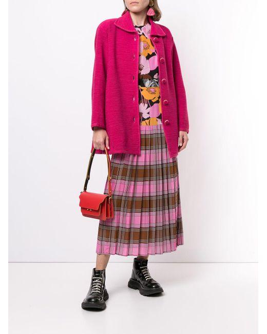 Dior プレオウンド フレアコート Pink