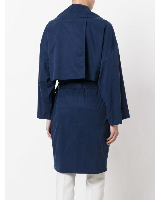Lyst Sonia By Sonia Rykiel Double Breasted Coat In Blue