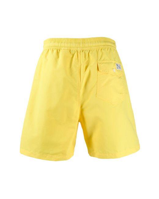 メンズ Polo Ralph Lauren Hawaiian トランクス水着 Yellow