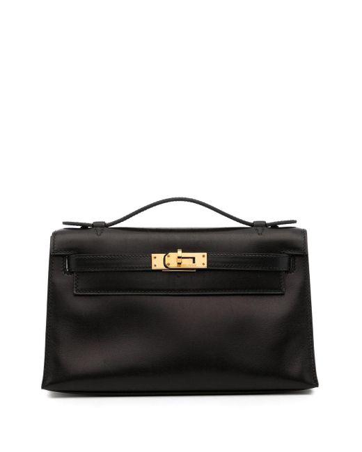 Hermès 2004 プレオウンド ケリー ポシェット クラッチバッグ Black