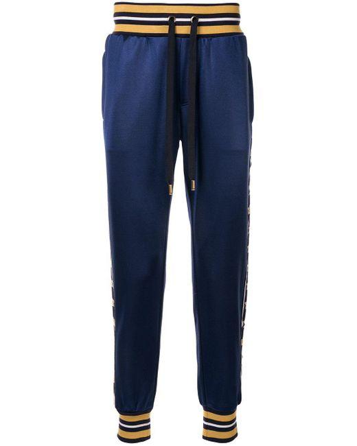 メンズ Dolce & Gabbana ロゴ パンツ Blue