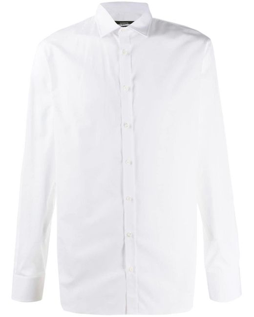 メンズ DSquared² ロングスリーブ シャツ White
