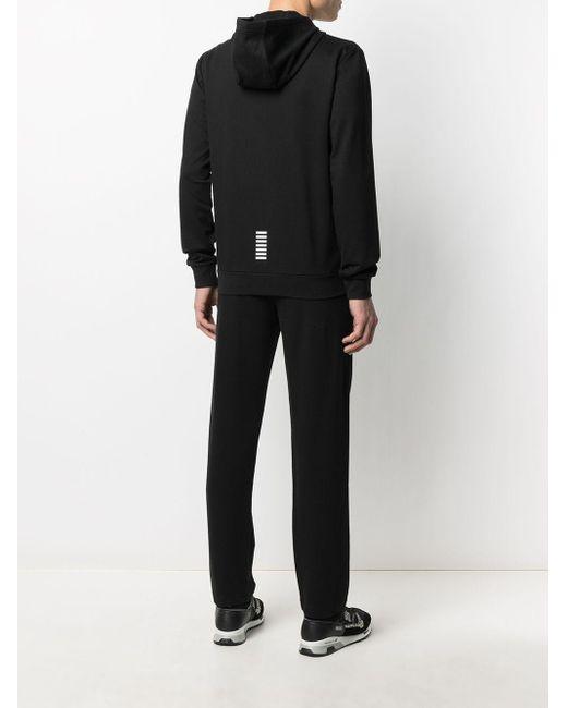 メンズ EA7 ロゴ トラックスーツ Black