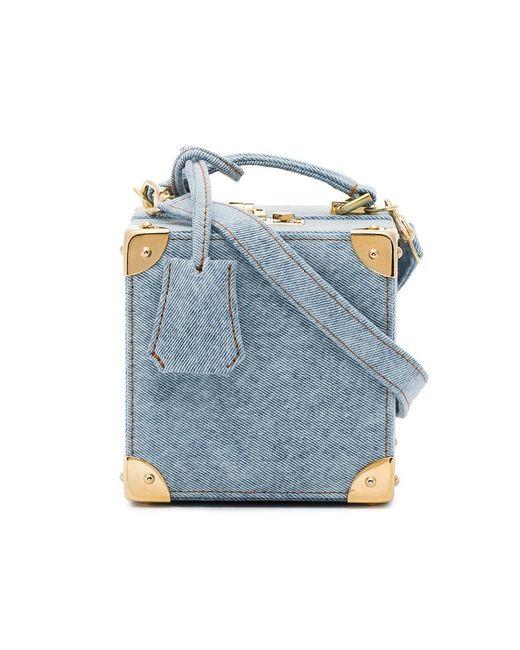 Natasha Zinko - Blue Denim Cross Body Box Bag - Lyst