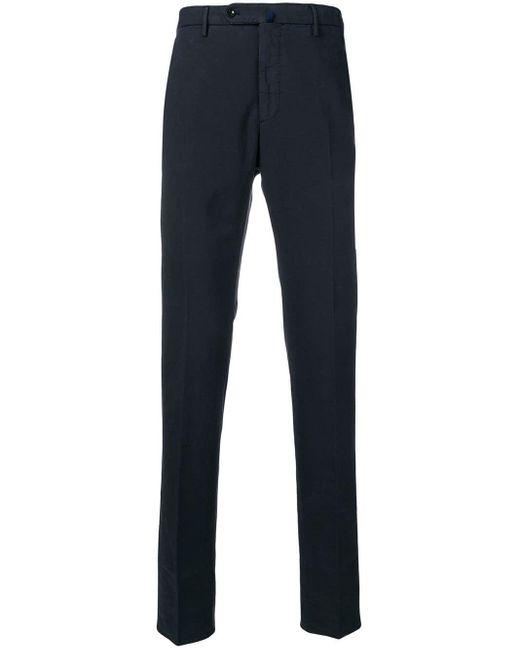 Pantalones de pinzas Incotex de hombre de color Blue