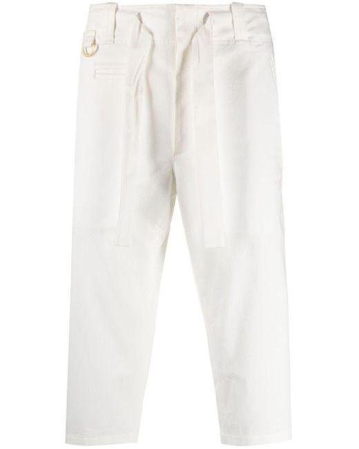 メンズ Dolce & Gabbana ドローストリング クロップドパンツ White
