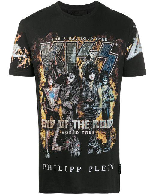 T-shirt di Philipp Plein in Black da Uomo
