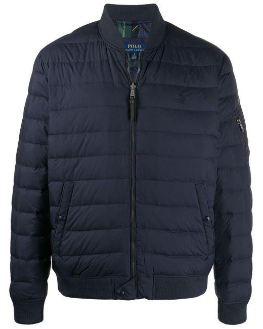 メンズ Polo Ralph Lauren パデッド ボンバージャケット Blue