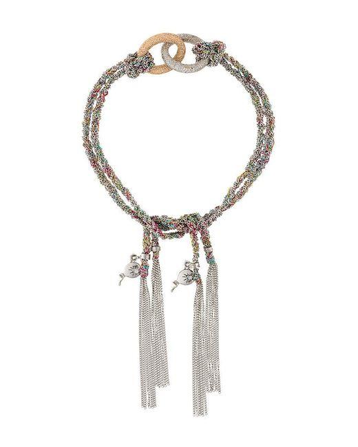 Carolina Bucci - Metallic 'lucky Celebration' Tassel Bracelet - Lyst