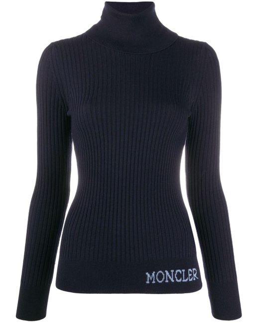 Moncler タートルネック プルオーバー Blue