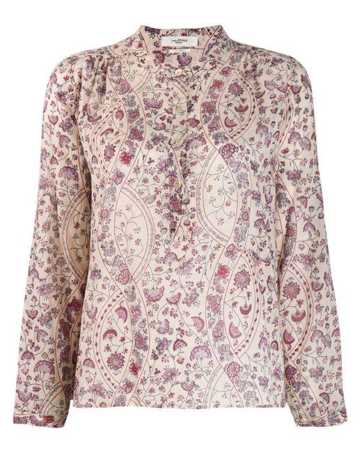 Camisa Maria estampada Étoile Isabel Marant de color Pink