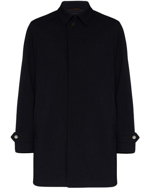 Однобортное Пальто Ermenegildo Zegna для него, цвет: Black