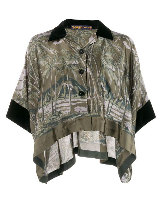 Sacai プリントシャツ Multicolor