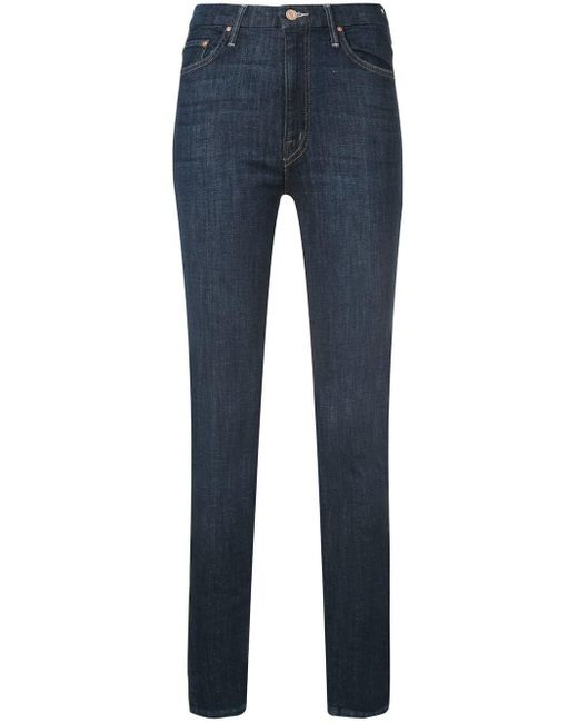 Mother Blue Skinny Fitted Jeans