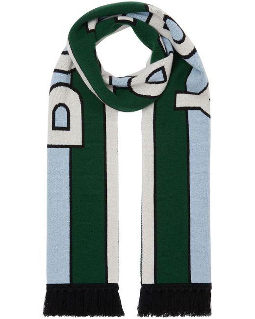 Burberry ロゴ スカーフ Green