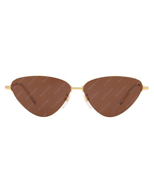 Occhiali da sole cat-eye BB0015S di Balenciaga in Brown