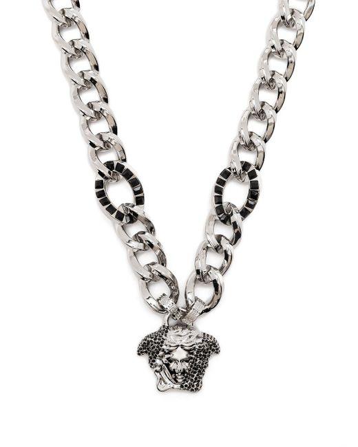 Versace Metallic Medusa Charm Necklace