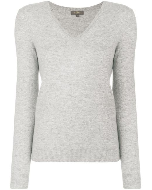 N.Peal Cashmere カシミア セーター Gray