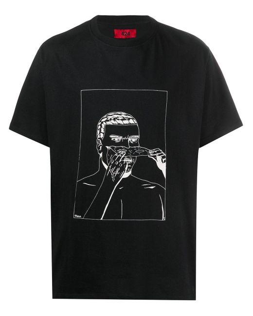 メンズ 424 クルーネック Tシャツ Black