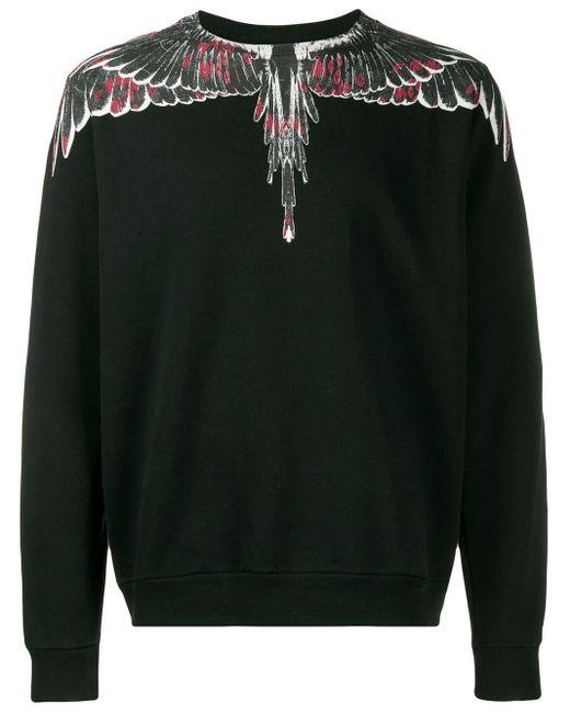 メンズ Marcelo Burlon Wings スウェットシャツ Black