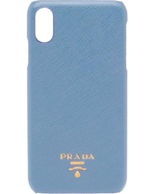 Prada ロゴ Iphone Xs Max ケース Blue