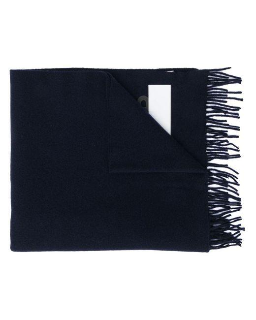 Écharpe rayée à patch logo Moncler pour homme en coloris Blue