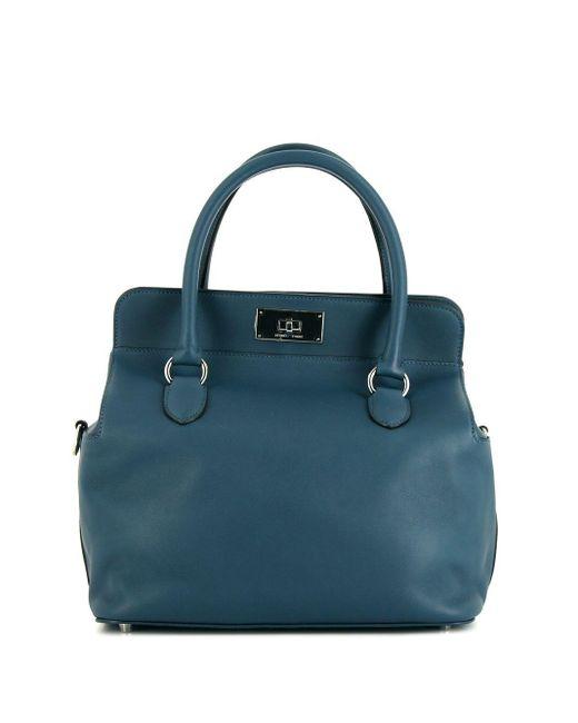 Сумка-тоут Tool Box Pre-owned 2015-го Года Hermès, цвет: Blue