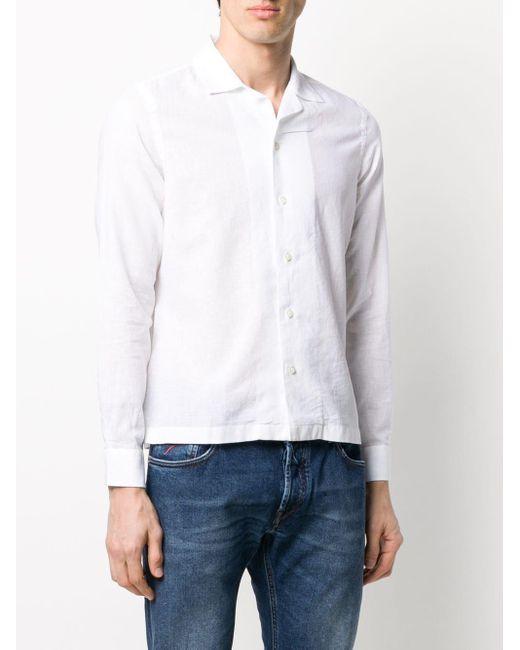 メンズ Dell'Oglio ロングスリーブ シャツ White
