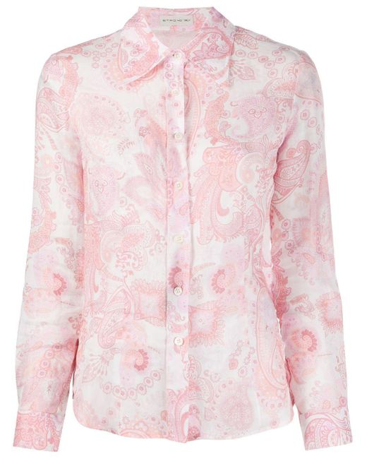 Etro ペイズリー シャツ Pink