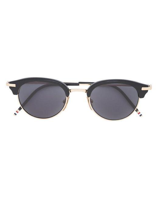 8bd63bf6f20 Thom Browne - Black Round Tinted Sunglasses - Lyst ...