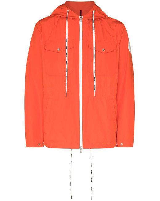 メンズ Moncler Carion フーデッドジャケット Orange