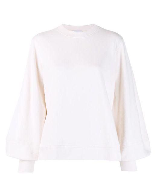 Ganni オーバーサイズ スウェットシャツ White