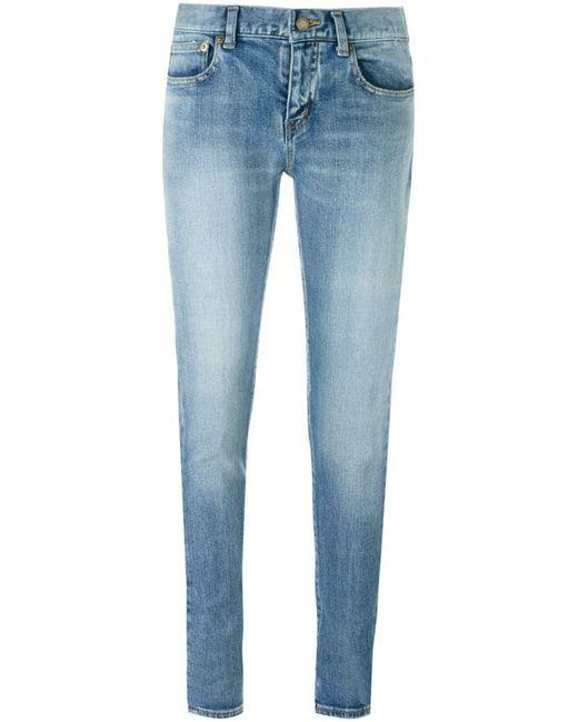 Saint Laurent - Blue Skinny Fit Jeans - Lyst